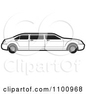 Clipart Black And White Stretch Limo Car Royalty Free Vector Illustration by Lal Perera