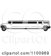 Clipart Black And White Stretch Limo Hummer Royalty Free Vector Illustration by Lal Perera