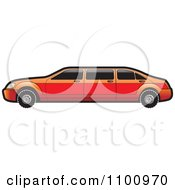Clipart Red Stretch Limo Car Royalty Free Vector Illustration by Lal Perera