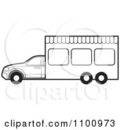 Clipart Outlined Portable Vendor Van Royalty Free Vector Illustration by Lal Perera