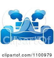 Clipart Blue Race Car With Smoke Royalty Free Vector Illustration by Lal Perera