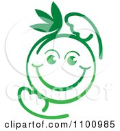 Clipart Happy Green Baby Royalty Free Vector Illustration