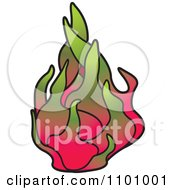 Clipart Dragon Fruit Royalty Free Vector Illustration by Lal Perera