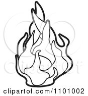 Clipart Outlined Dragon Fruit Royalty Free Vector Illustration by Lal Perera