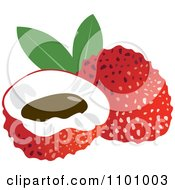 Clipart Red Lychee Fruit Royalty Free Vector Illustration by Lal Perera