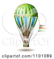Clipart People Riding In A Hot Air Balloon Royalty Free Vector Illustration by merlinul