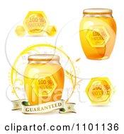 Jars And Combs Of Honey With Natural Guarantees