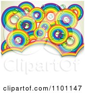Clipart Dewy Rainbow Circles Over Copyspace Royalty Free Vector Illustration
