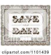 Clipart Brown Vintage Ornate Save The Date Wedding Background With A Little Space For Text Royalty Free Vector Illustration by BestVector