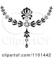 Clipart Black And White Wreath Design Element 7 Royalty Free Vector Illustration