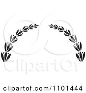 Clipart Black And White Wreath Design Element 9 Royalty Free Vector Illustration