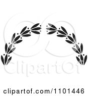 Clipart Black And White Wreath Design Element 6 Royalty Free Vector Illustration by BestVector