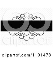 Clipart Blank Frame And Swirls Over Diagonal Lines Royalty Free Vector Illustration by BestVector
