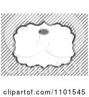 Clipart Blank Frame Over Diagonal Lines Royalty Free Vector Illustration