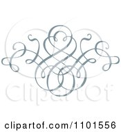 Clipart Gray Swirl Design Element 4 Royalty Free Vector Illustration