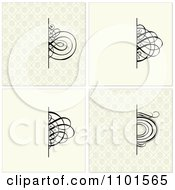 Clipart Black Swirls Over Beige Backgrounds Royalty Free Vector Illustration
