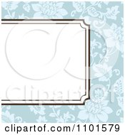 Clipart Partial Frame Over Blue Floral Royalty Free Vector Illustration