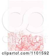 Clipart Pink Hydrangeas With Diagonal Lines Royalty Free Vector Illustration by BestVector