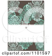 Clipart Brown Victorian Background With Green Flowers And Copyspace Royalty Free Vector Illustration
