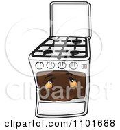 Clipart Gas Oven Range Stove Character Royalty Free Vector Illustration