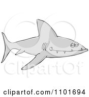 Clipart Sinister Shark With Sharp Teeth Royalty Free Vector Illustration
