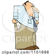 Clipart Businessman With Empty Pockets Royalty Free Vector Illustration by djart