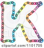 Clipart Colorful Capital Letter K With A Grid Pattern Royalty Free Vector Illustration
