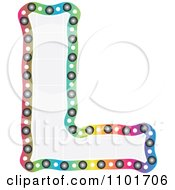 Clipart Colorful Capital Letter L With A Grid Pattern Royalty Free Vector Illustration