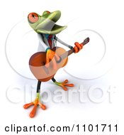 Clipart 3d Doctor Springer Frog Guitarists 4 Royalty Free CGI Illustration