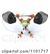 3d Doctor Springer Frog Lifting A Barbell 3