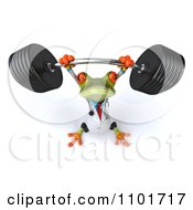 Clipart 3d Doctor Springer Frog Lifting A Barbell 3 Royalty Free CGI Illustration by Julos