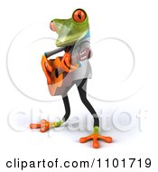 Clipart 3d Doctor Springer Frog Guitarists 1 Royalty Free CGI Illustration