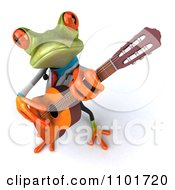Clipart 3d Doctor Springer Frog Guitarists 2 Royalty Free CGI Illustration
