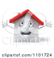 Clipart 3d Happy White House Character With Open Arms 1 Royalty Free CGI Illustration by Julos