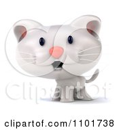 Clipart 3d Cute White Kitten Royalty Free CGI Illustration
