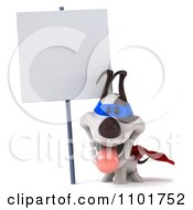 Clipart 3d Super Jack Russell Terrier Dog With A Sign Royalty Free CGI Illustration