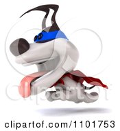 Clipart 3d Super Jack Russell Terrier Dog Running Royalty Free CGI Illustration