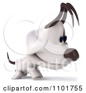 Clipart 3d Jack Russell Terrier Dog Walking Royalty Free CGI Illustration