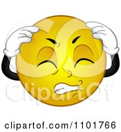 Clipart Yellow Smiley With A Migraine Royalty Free Vector Illustration