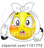 Clipart Yellow Smiley With A Tooth Ache Royalty Free Vector Illustration