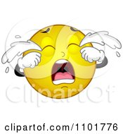 Clipart Yellow Smiley Crying Royalty Free Vector Illustration