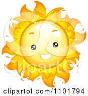 Clipart Happy Cute Summer Sun Smiling Royalty Free Vector Illustration