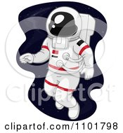 Clipart Astronaut Doing A Space Walk Royalty Free Vector Illustration