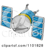 Clipart Modern Space Communications Royalty Free Vector Illustration by BNP Design Studio