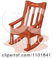 Clipart Wooden Rocking Chair Royalty Free Vector Illustration by BNP Design Studio