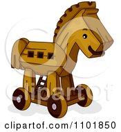 Wooden Toy Trojan Horse