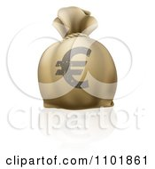 Clipart 3d Euro Bank Money Sack Royalty Free Vector Illustration by AtStockIllustration