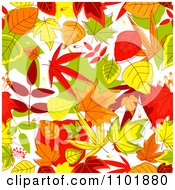 Clipart Autumn Leaf Background Royalty Free Vector Illustration