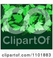 Clipart Green Leaf Background With Copyspace Royalty Free Vector Illustration