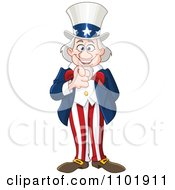 Clipart Happy Uncle Sam Smiling And Pointing Outwards Royalty Free Vector Illustration